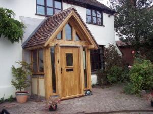 timber front door material