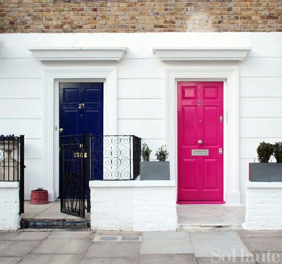 colourful front door ideas